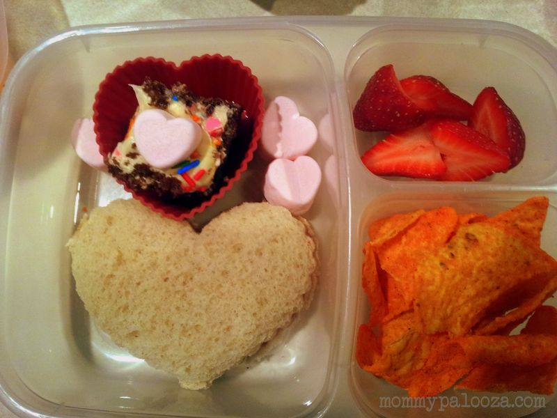Valentine's Day themed lunch for kids