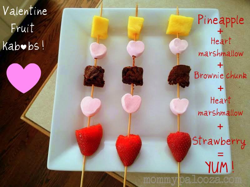 Valentine Fruit Kabobs