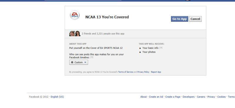 Screenshot of EA Sports You're Covered program