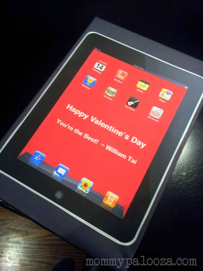 iPad themed Valentine's Day card box