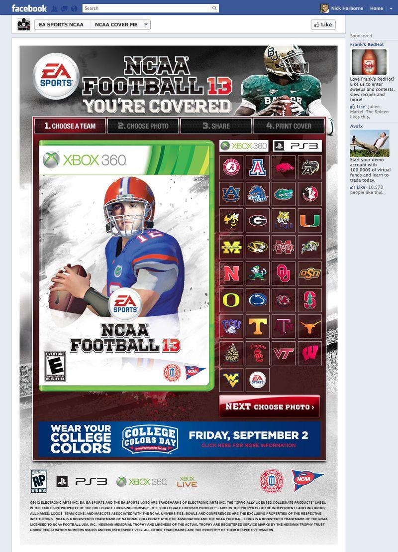 NCAA Football 13 giveaway!