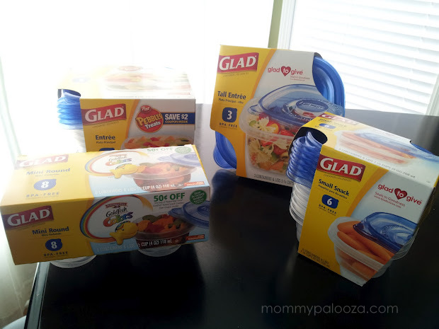 Glad® Food Storage containers make packing school lunches fun!
