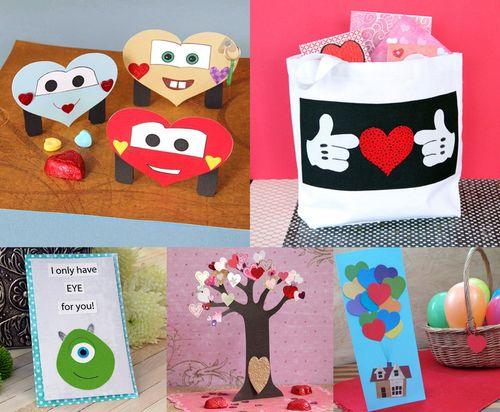 Disney inspired DIY Valentine's Day kids crafts