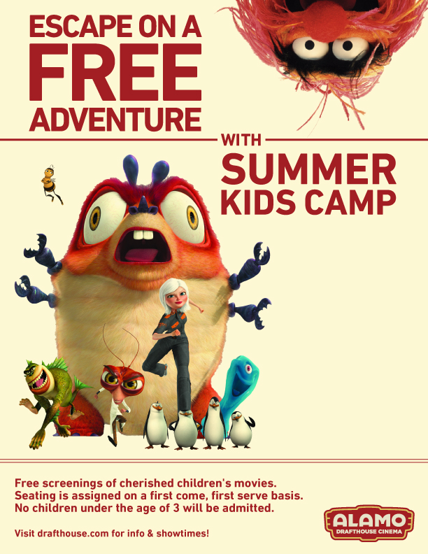 FREE Summer Kids Camp at Alamo Drafthouse