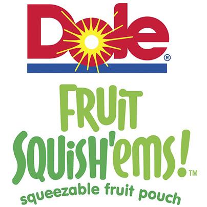 Dole Fruit Squish'ems logo