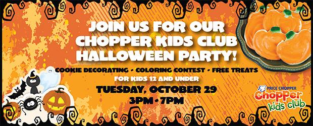Price Chopper Kids Club FREE Halloween Party