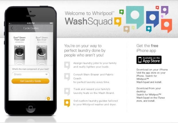 #WhirlpoolWashSquad mobile laundry chore app