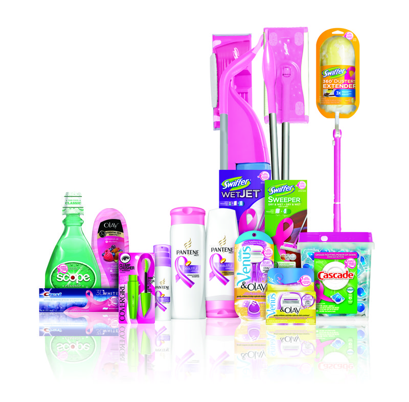 P&G's pink product line helps support early detection of breast cancer.