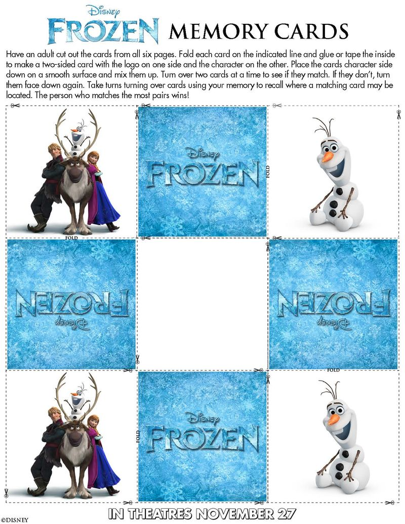 photo about Free Olaf Printable identified as Fresh! Disneys FROZEN Cost-free Printable Video game and Coloring
