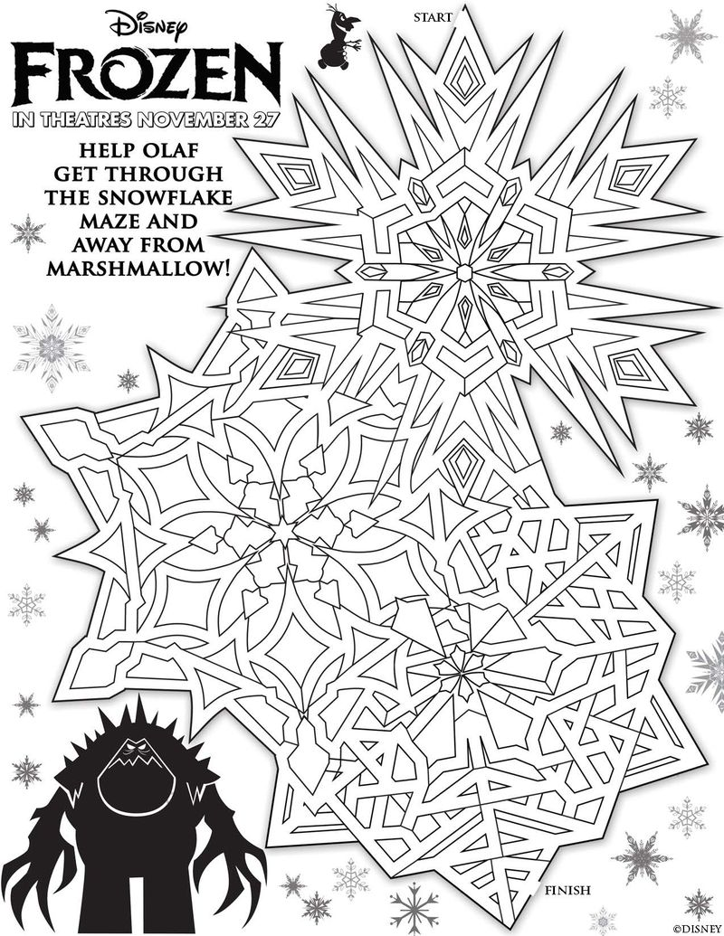 new! disney's frozen free printable activity and coloring sheets