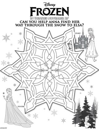 New! Disney\'s FROZEN Free Printable Activity and Coloring Sheets ...