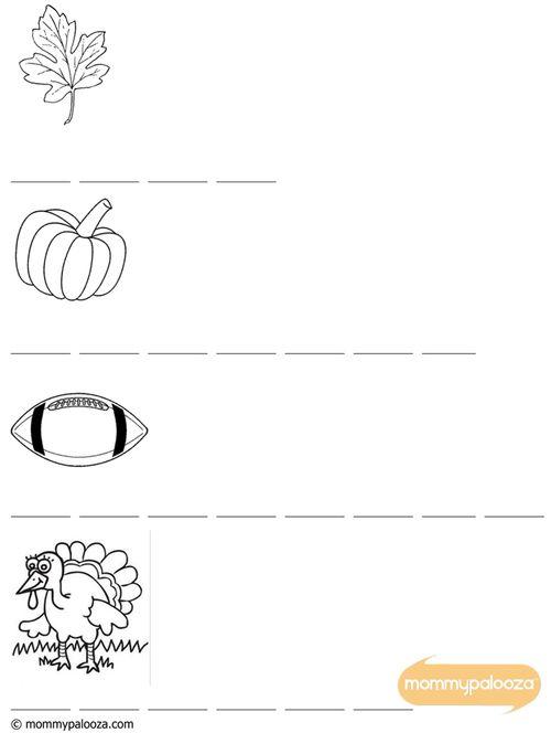 Alpha-Bits Fall Printable Activity Sheet for Kids