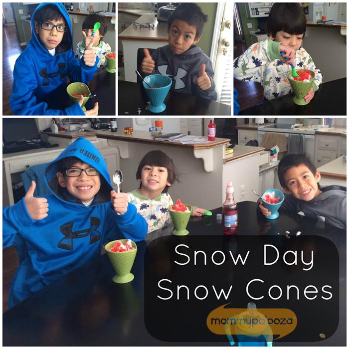 Snow Day fun: Snow Cones