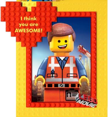 LEGO Movie Valentine's Day Printable Cards