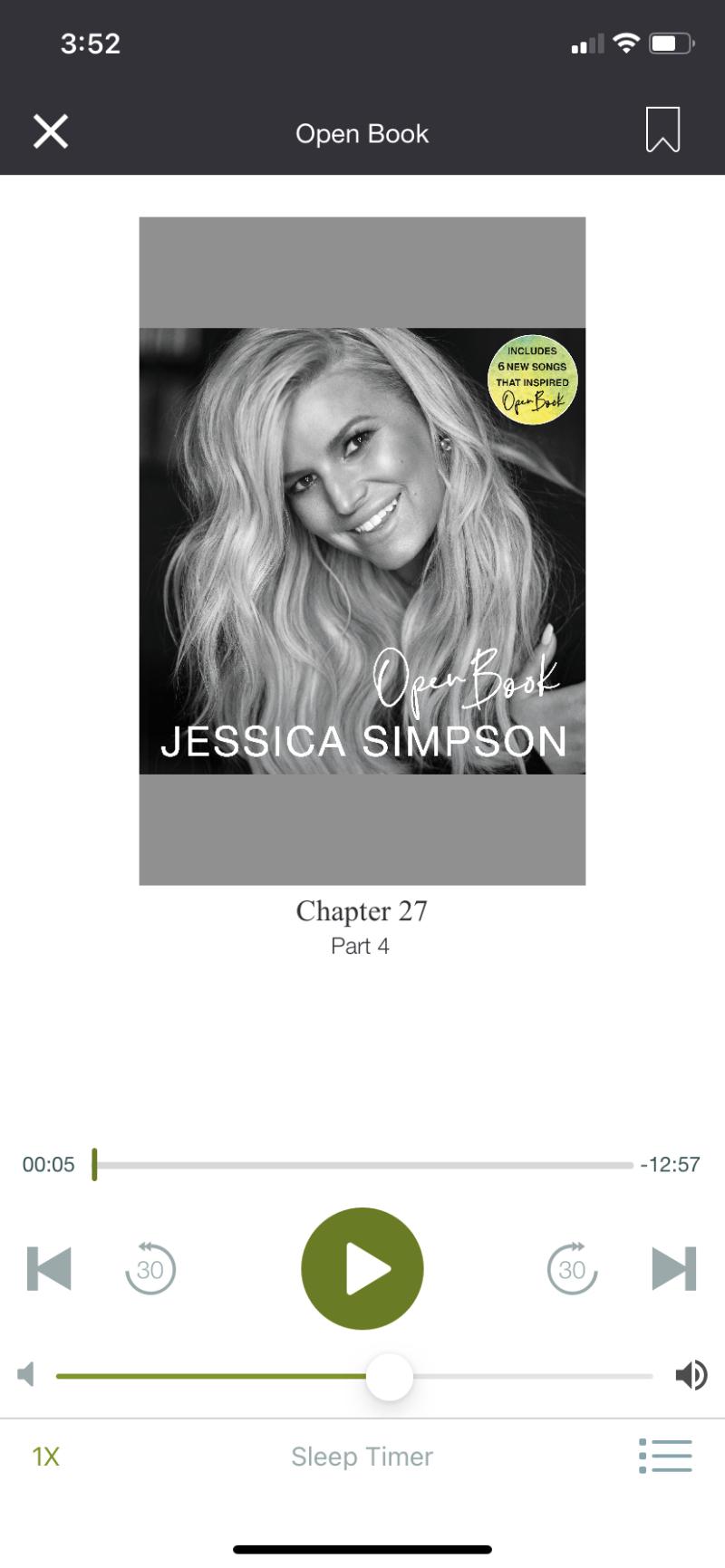 Jessica simpson open book audio book